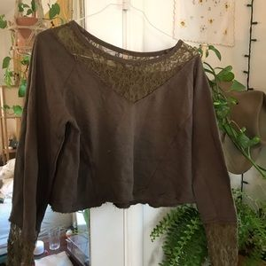 Free people French terry long sleeve